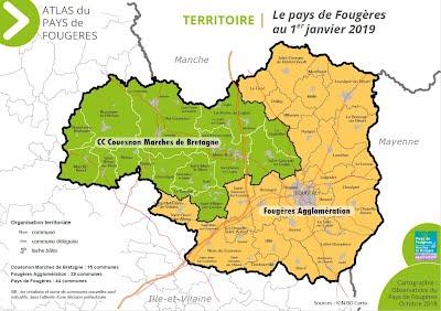 carte du pays de Fougères 2019